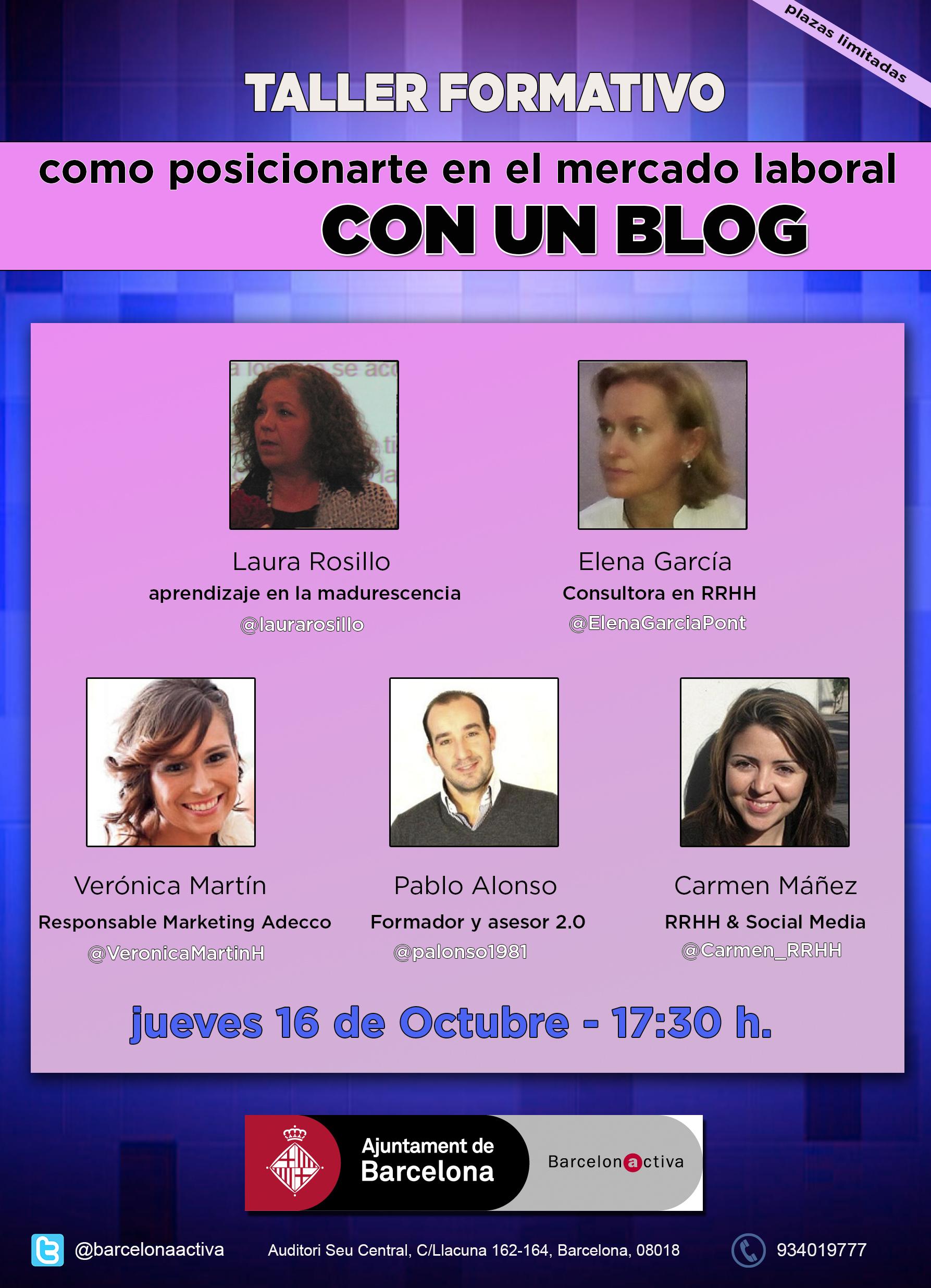 Cómo posicionarte en el mercado laboral con un blog. Barcelona Activa
